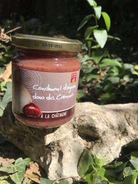 Condiment Oignons doux des Cévennes à la châtaigne 210gr